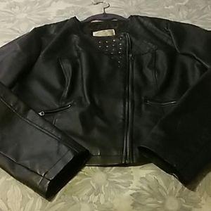 Gently used faux biker jacket